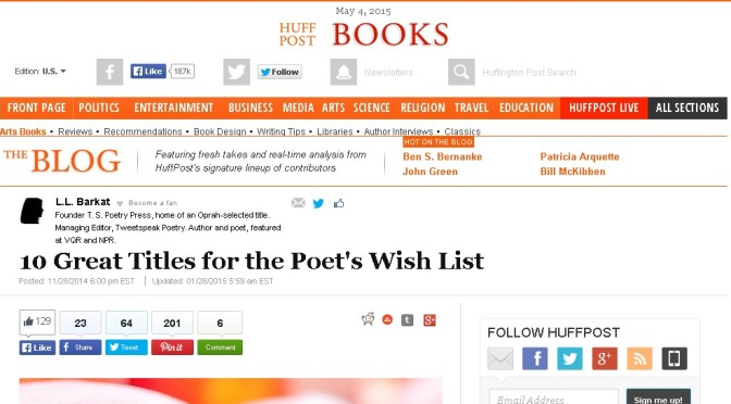 poemcrazy featured in Huffington Post